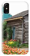 Cabin By The Tulips IPhone Case