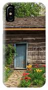 Cabin In The Tulip Patch IPhone Case