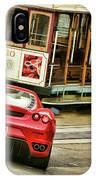 Cable Car Meets Ferrari IPhone Case
