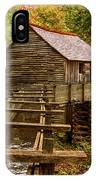 Cable Mill Cades Cove Smoky Mountains Tennessee In Autumn IPhone Case