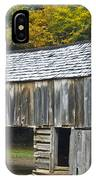 Cades Cove Barn IPhone Case