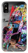 Cadillac Ranch Spray Paint Fun Along Historic Route 66 By Amarillo Texas IPhone Case