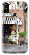Cafe Beignet Summer Day IPhone Case