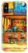 Cafe Coin Des Artistes IPhone Case