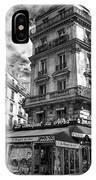 Cafe Corner - Le Bouquet Du Nord IPhone Case