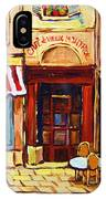 Cafe De Vieux Montreal With Couple IPhone Case