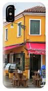 Cafe In Burano IPhone Case
