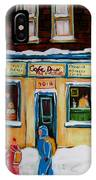 Cafe St. Viateur Montreal IPhone Case