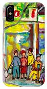 Caffe Italia And Milano Charcuterie Montreal Watercolor Streetscenes Little Italy Paintings Cspandau IPhone Case