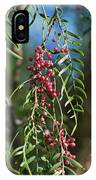 California Pepper Tree Leaves Berries I IPhone Case