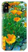 California Poppie In River Rock IPhone Case