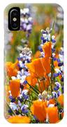 California Poppies And Lupine Wildflowers IPhone Case