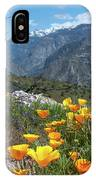 California Poppy And Mountain Panorama IPhone Case