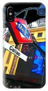 Callao Metro Entrance At Night Madrid IPhone Case