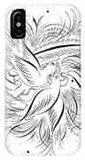 Calligraphic Love Birds IPhone Case