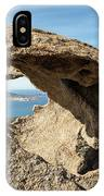 Calvi In Corsica Viewed Through A Hole In A Rock IPhone Case