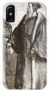 Calvin And Servetus Before The Council Of Geneva IPhone Case
