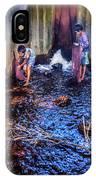 Cambodian Boys Netting Fish IPhone Case