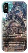 Cambodian Temple Details Banteay Srey IPhone Case