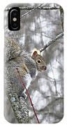 Camera Shy Grey Squirrel IPhone Case