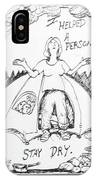 Camping Homeless IPhone Case
