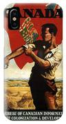 Canada - Canadian Pacific Railway - Flag - Retro Travel Poster - Vintage Poster IPhone Case