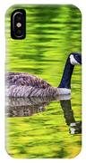 Canada Goose Swimming In A Pond IPhone Case