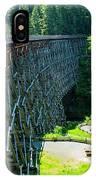 Canada National Historic Wooden Trestle- Kinsol Trestle Near Shawnigan Lake, Bc Canada. IPhone Case