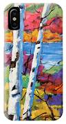 Canadian Birches By Prankearts IPhone Case