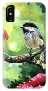 Canadian Chickadee IPhone Case