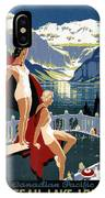 Canadian Pacific - Chateau Lake Louise - Canadian Rockies - Retro Travel Poster - Vintage Poster IPhone Case