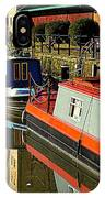 Canal Barges At Gloucester Dock IPhone Case