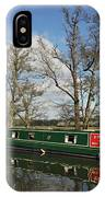 Canal Boat On Wey Navigations IPhone Case