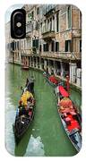 Canal With Gondolas In Venice Italy IPhone Case