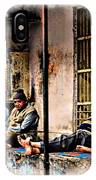 Candid Bored Yawn Pj Exotic Travel Blue City Streets India Rajasthan 1a IPhone Case
