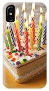 Candles On Birthday Cake IPhone Case