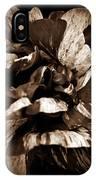 Candy Stripe Rose Sepia  IPhone Case