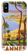 Cannes Vintage Travel Poster IPhone Case