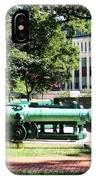Cannon Near Tecumseh Statue IPhone Case