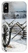 Cannon Under Snow IPhone Case