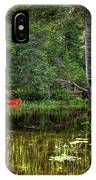 Canoe Among The Reeds IPhone Case