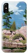 Canoe Among The Rocks IPhone Case