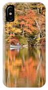 Canoe Fishing  Fall IPhone Case