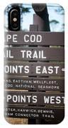 Cape Cod Rail Trail Sign Eastham IPhone Case