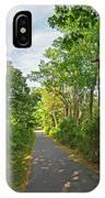 Cape Cod Rail Trail Trees Eastham Ma 2 IPhone Case