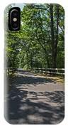 Cape Cod Rail Trail Trees Eastham Ma Fence IPhone Case