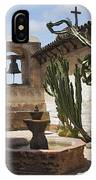 Capistrano Mission Courtyard IPhone Case