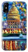 Capital At Night - Washington IPhone Case