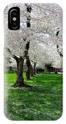 Capitol Gardens Cherry Trees IPhone Case
