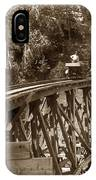 Car On A Wooden Railroad Trestle Circa 1916 IPhone Case